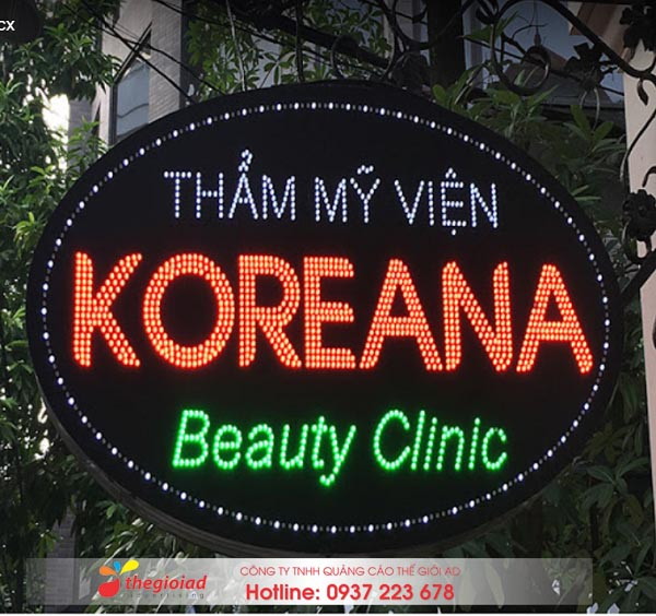 bảng hiệu quảng cáo đèn led