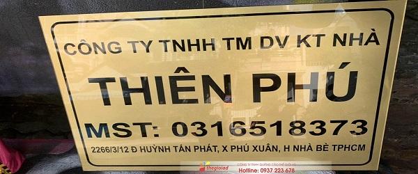 bảng hiệu công ty inox