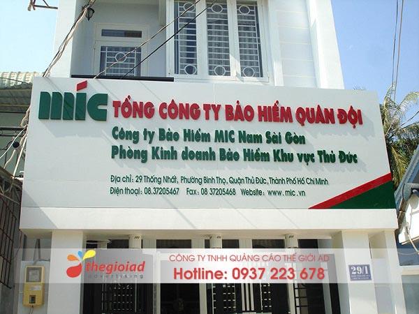 bảng hiệu quảng cáo công ty